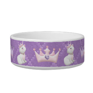 Princesa del gato tazones para gatos
