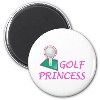 Princesa del golf imán redondo 5 cm
