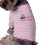 Princesa del golf ropa de perros
