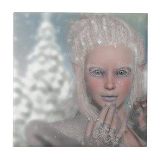 Princesa del hielo azulejo cuadrado pequeño