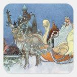 Princesa del hielo de la reina de la nieve calcomanía cuadrada
