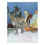 Princesa del hielo de la reina de la nieve postal