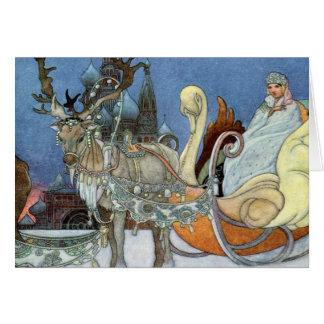 Princesa del hielo de la reina de la nieve tarjeta de felicitación