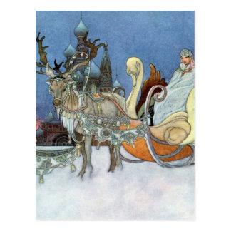 Princesa del hielo de la reina de la nieve tarjetas postales