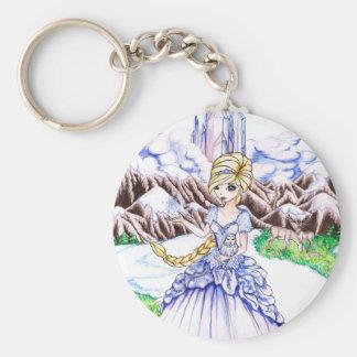 Princesa del hielo llavero redondo tipo pin
