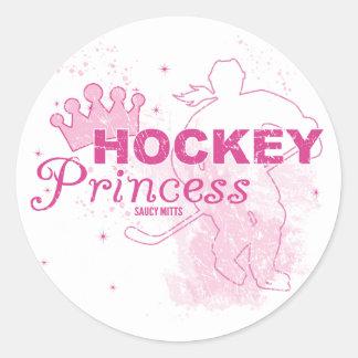 Princesa del hockey pegatina redonda