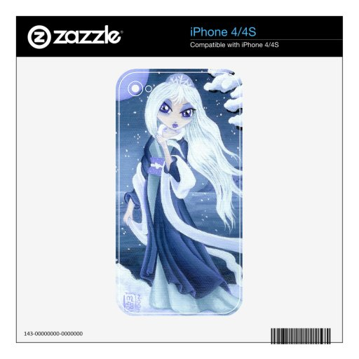 Princesa del invierno en el iPhone 4/4s de la niev Calcomanía Para El iPhone 4