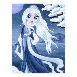 Princesa del invierno en postal de la nieve