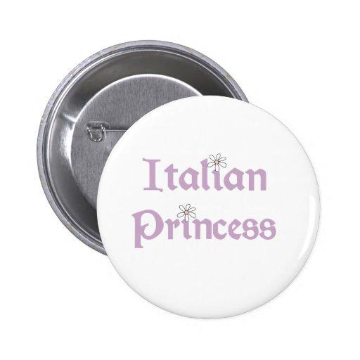 Princesa del italiano de las margaritas pins