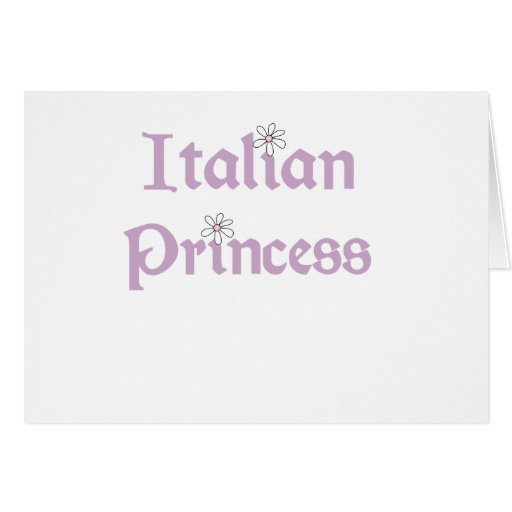 Princesa del italiano de las margaritas tarjeta