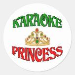 Princesa del Karaoke Etiqueta Redonda