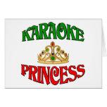 Princesa del Karaoke Tarjeta