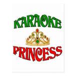 Princesa del Karaoke Tarjeta Postal