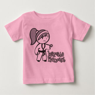 Princesa del karate playera de bebé