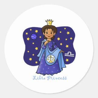 Princesa del libra pegatina redonda