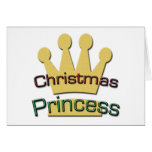 Princesa del navidad tarjeta