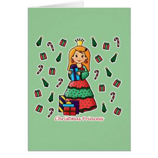 Princesa del navidad tarjeta de felicitación