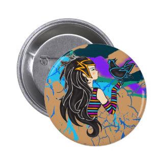 Princesa del Nilo Pin Redondo 5 Cm