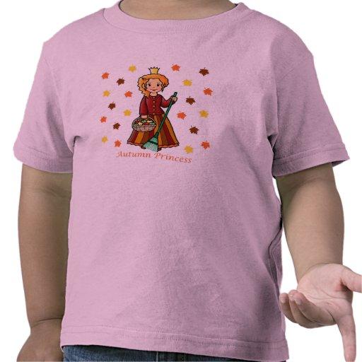 Princesa del otoño camisetas