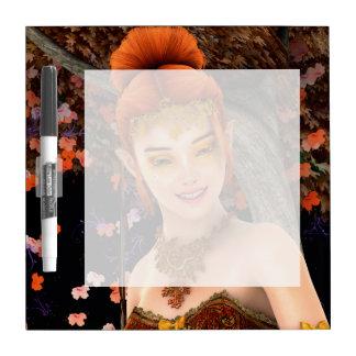 Princesa del otoño pizarra blanca