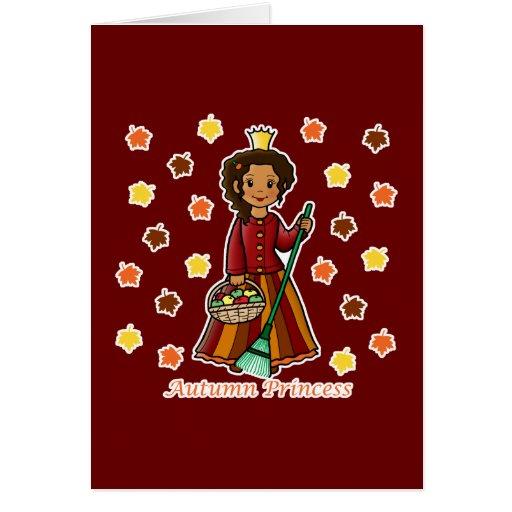 Princesa del otoño tarjeton