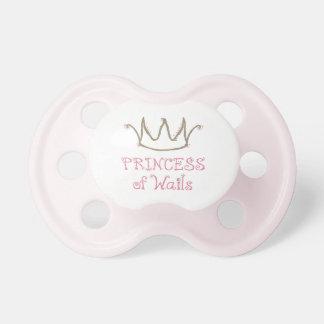 Princesa del pacificador divertido de los lamentos chupete de bebe