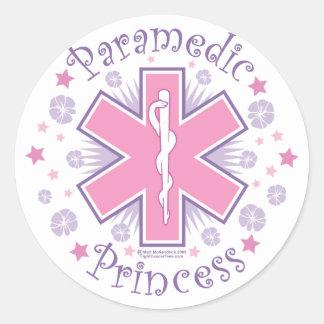 Princesa del paramédico pegatina redonda