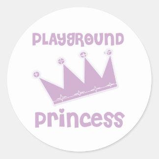 Princesa del patio pegatina redonda