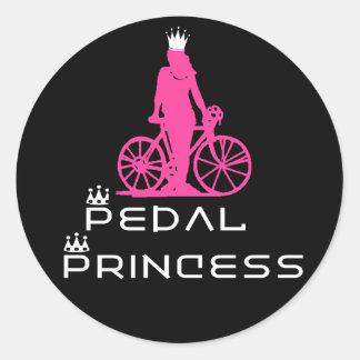 Princesa del pedal de BikeChick Pegatina Redonda