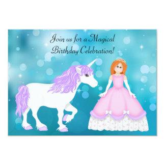 Princesa del pelo e invitación rojas del invitación 12,7 x 17,8 cm