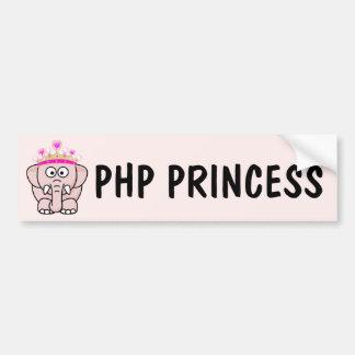 Princesa del PHP: Mujeres en el desarrollo del Web Pegatina De Parachoque