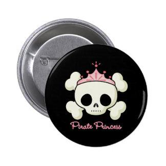 Princesa del pirata pin redondo de 2 pulgadas