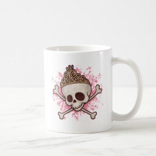 Princesa del pirata - tiara taza básica blanca