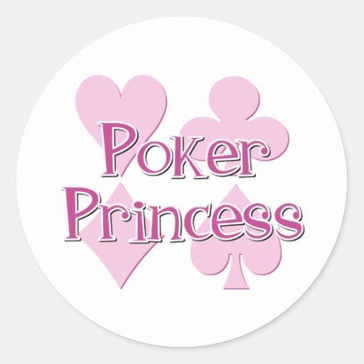 Princesa del póker etiquetas redondas