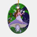 Princesa del ratoncito Pérez en el ornamento púrpu Adorno De Reyes