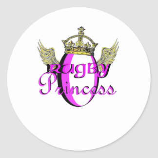 Princesa del rugbi etiquetas redondas