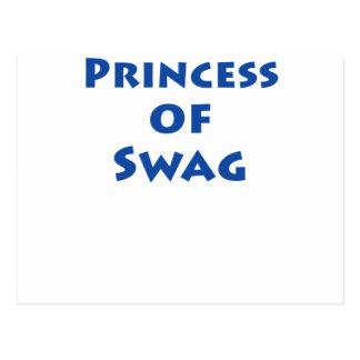 Princesa del Swag Tarjeta Postal