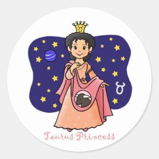 Princesa del tauro pegatina redonda