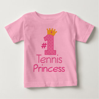 Princesa del tenis #1 playera de bebé