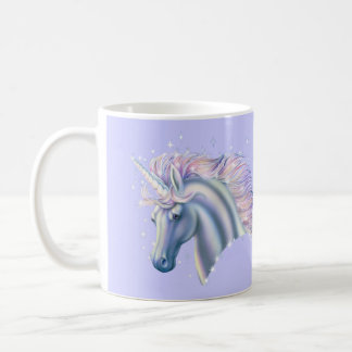 Princesa del unicornio taza básica blanca
