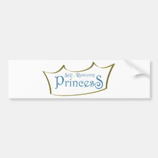 Princesa del Uno mismo-Resuing Pegatina De Parachoque