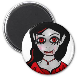 Princesa del vampiro imán redondo 5 cm
