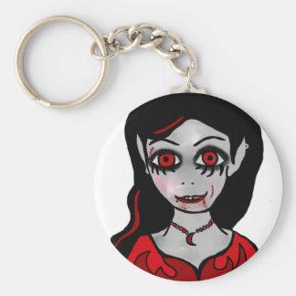 Princesa del vampiro llavero redondo tipo pin