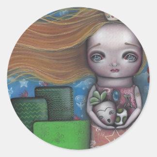 Princesa del videojuego pegatina redonda
