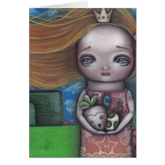 Princesa del videojuego tarjeta de felicitación