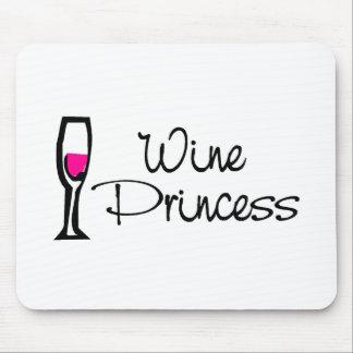 Princesa del vino alfombrilla de raton
