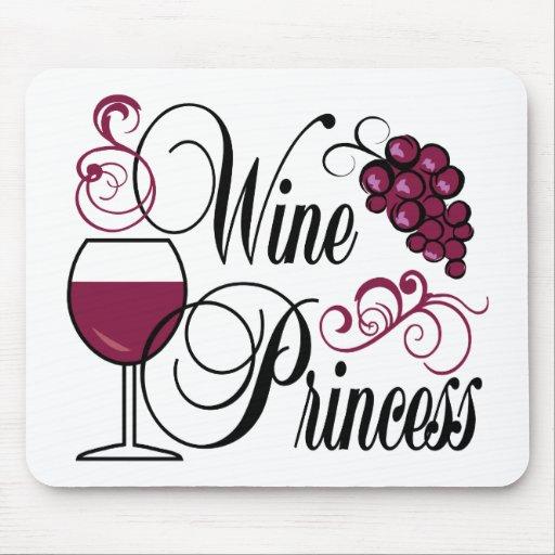 Princesa del vino alfombrillas de ratones