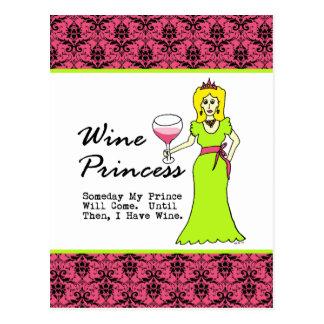 """Princesa del vino """"algún día mi príncipe Will Postal"""