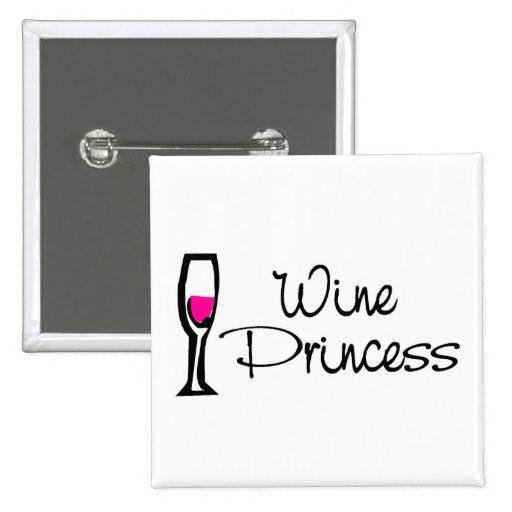 Princesa del vino pin