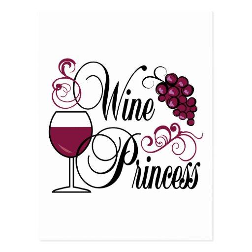 Princesa del vino postales